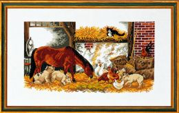 Horse, pigs, fowls ..