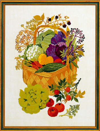 Basket w/vegetables
