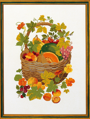 Basket w/fruits
