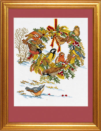 Wreath and birds