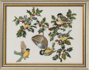 Birds & holly